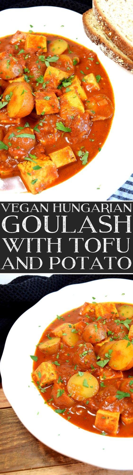 Vegan Hungarian Goulash with Tofu and Potato