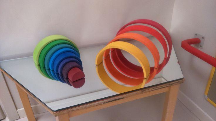 Taula mirall DIY i ponts de colors
