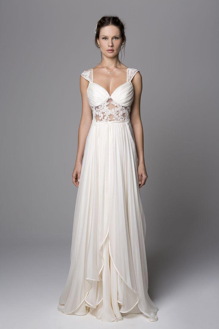 Vestido de noiva - Nouveau por Giselle Nasser: Vestido Catarina em musseline de…