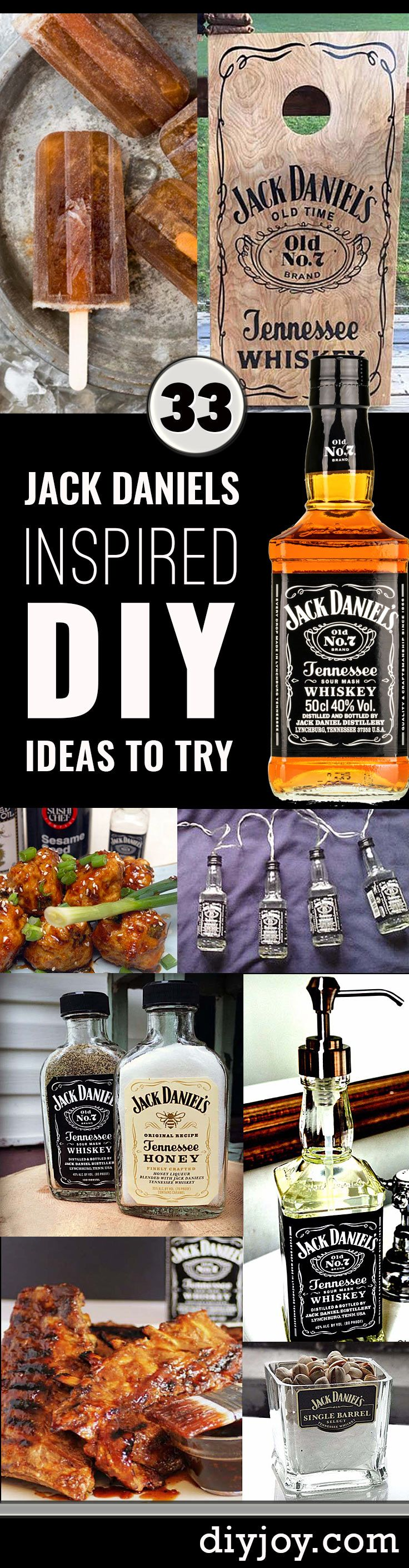 Fun DIY Ideas Made With Jack Daniels - Recipes, Projects and Crafts With The Bottle, Everything From Lamps and Decorations to Fudge and Cupcakes | diyjoy.com/...