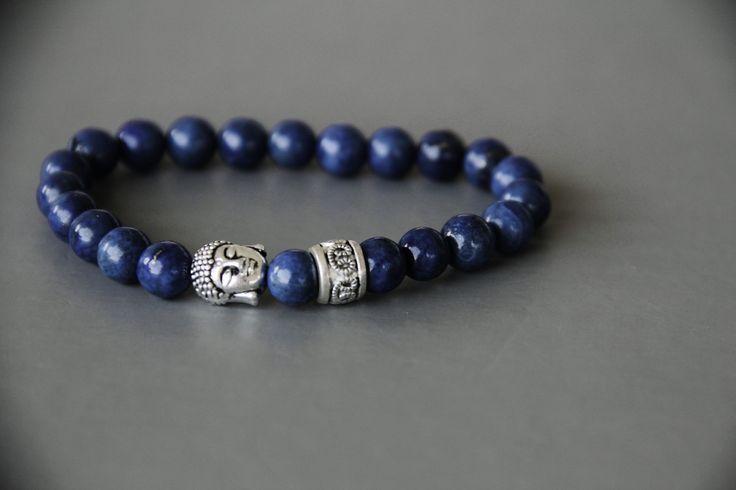 bracelet bouddhiste en LAPIS LAZULI certifié 1er choix : Bijoux pour hommes par made-with-love-in-aiacciu