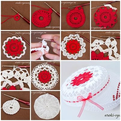 DIY Rope Craft Projects To Do At Home How Crochet Treasure Box Step By 88 Best Cajas Cofres Canastas Images