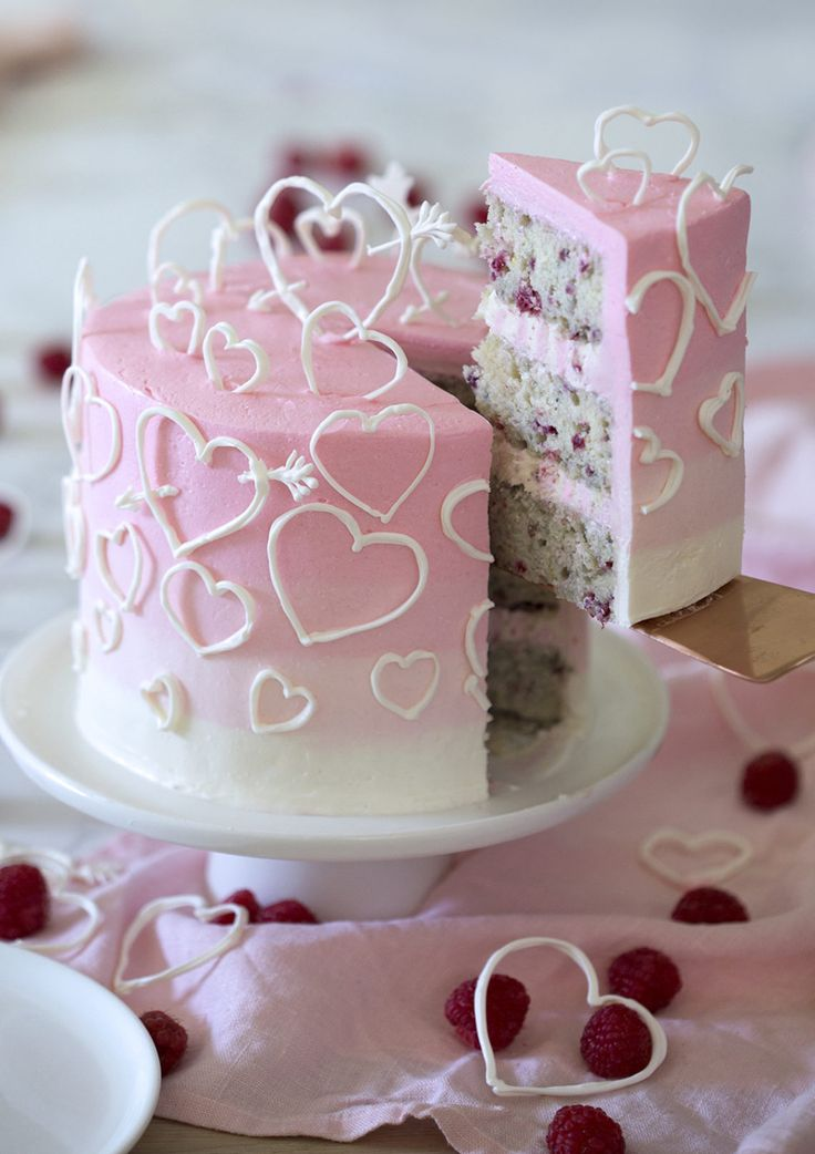 A raspberry vanilla cake filled with white chocola…