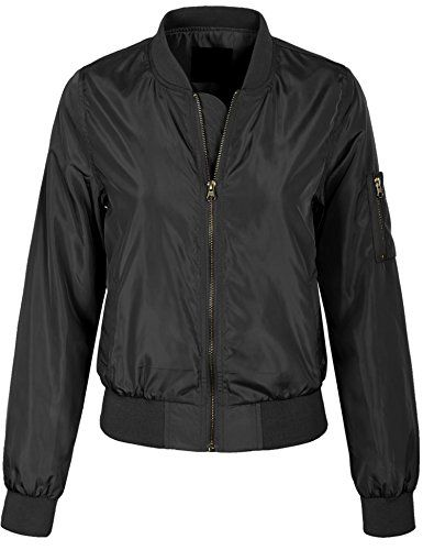 KOGMO Womens Classic Zip Up Lightweight Bomber Jacket Various Styles - http://www.darrenblogs.com/2017/03/kogmo-womens-classic-zip-up-lightweight-bomber-jacket-various-styles/