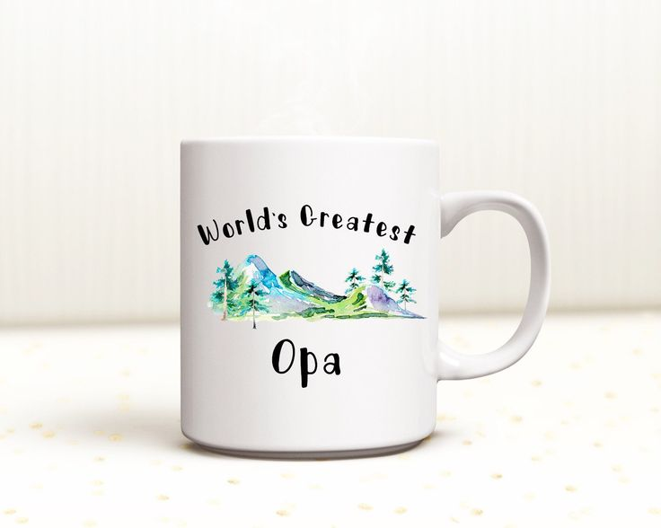 For Sale: World's Greatest Grandpa Mug - World's Greatest Dad Papa - World's Greatest Uncle  - Personalized -World's Best Opa - Brother -Christmas Mug by MayaLynsCreations on Etsy