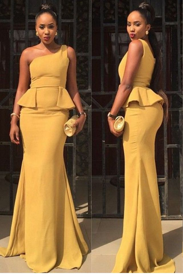 New Arrival Sexy Prom Dress, One Shoulder Peplum#prom #promdress #dress #eveningdress #evening #fashion #love #shopping #art #dress #women #mermaid #SEXY #SexyGirl #PromDresses