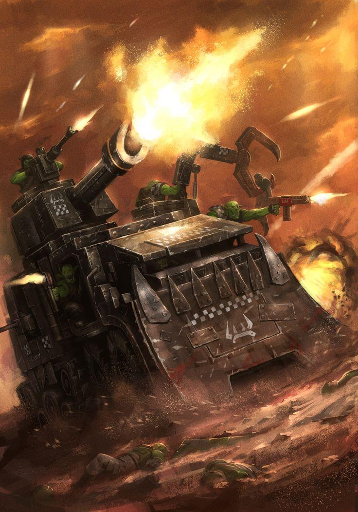 Warhammer 40k - Party Bus by ameeeeba.deviantart.com on @deviantART