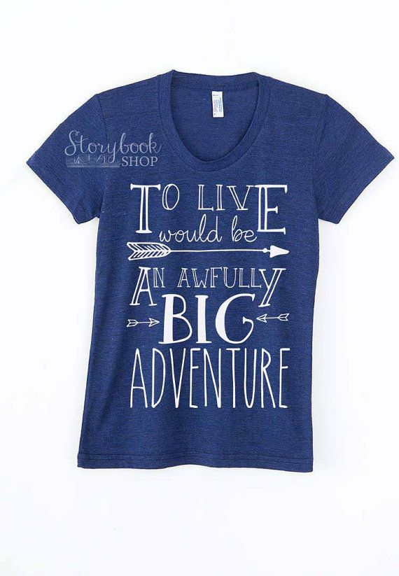 ADULT Big Adventure  Peter Pan Shirt  Disney by StorybookShop