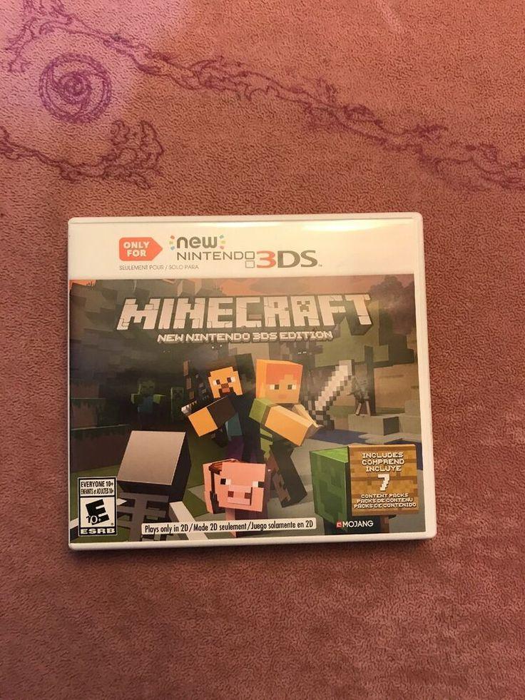 Minecraft Nintendo 3DS Edition (Nintendo 3DS, 2017)
