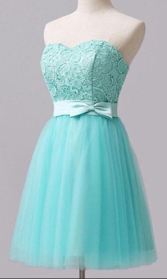 Sexy Sweetheart Short Homecoming Dress,Elegant Blue Lace Homecoming
