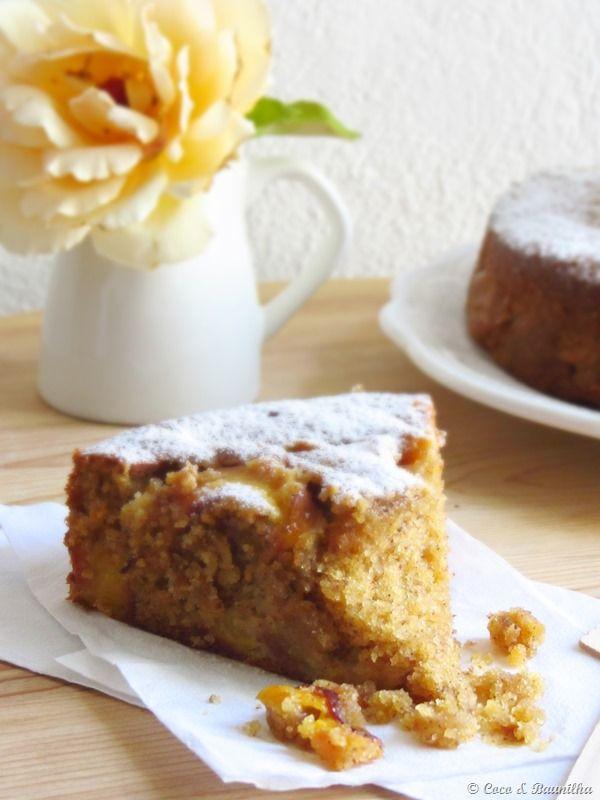 Nectarine, lavander and honey cake