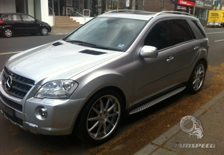 mercedes benz ml350  rims | Completed RamSpeed SV-50 Wheels Brushed on a Mercedes Benz ML350 W164