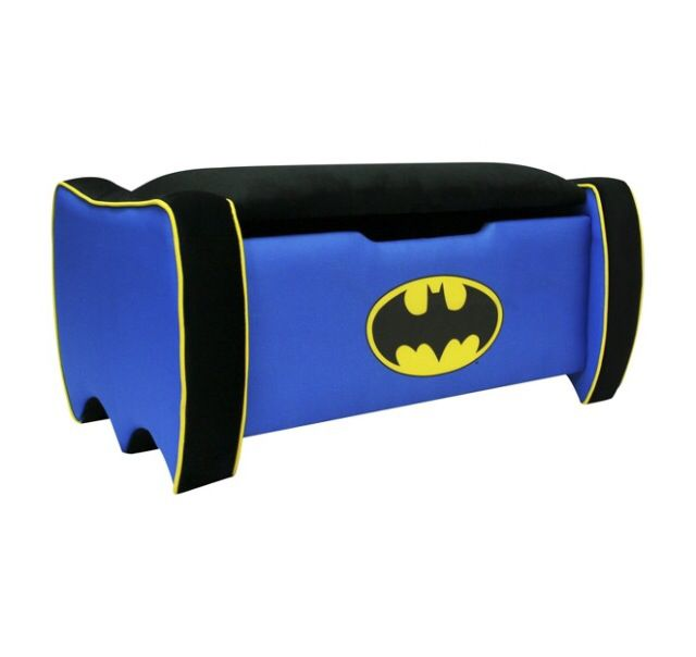 The Warner Brothers Batman Icon Toy Box toy box brings style and function to your little superherou0027s bedroom. This delightful toy chest features a sturdy.  sc 1 st  Pinterest : batman recliner - islam-shia.org