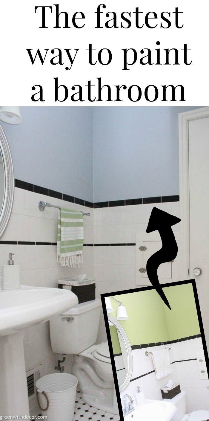 How To Paint A Bathroom With A Paint Sprayer Green With Decor Painting Bathroom Using A Paint Sprayer Farmhouse Style Bathroom Decor