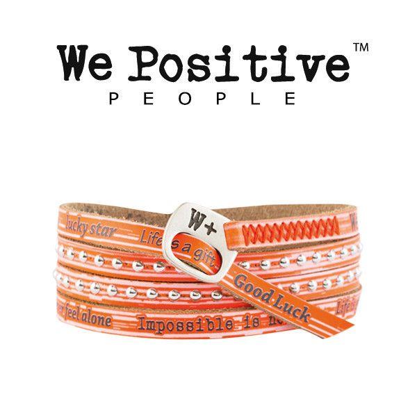 Bracciale We Positive Arancione Fluo Collezione Holiday Pelle HD006