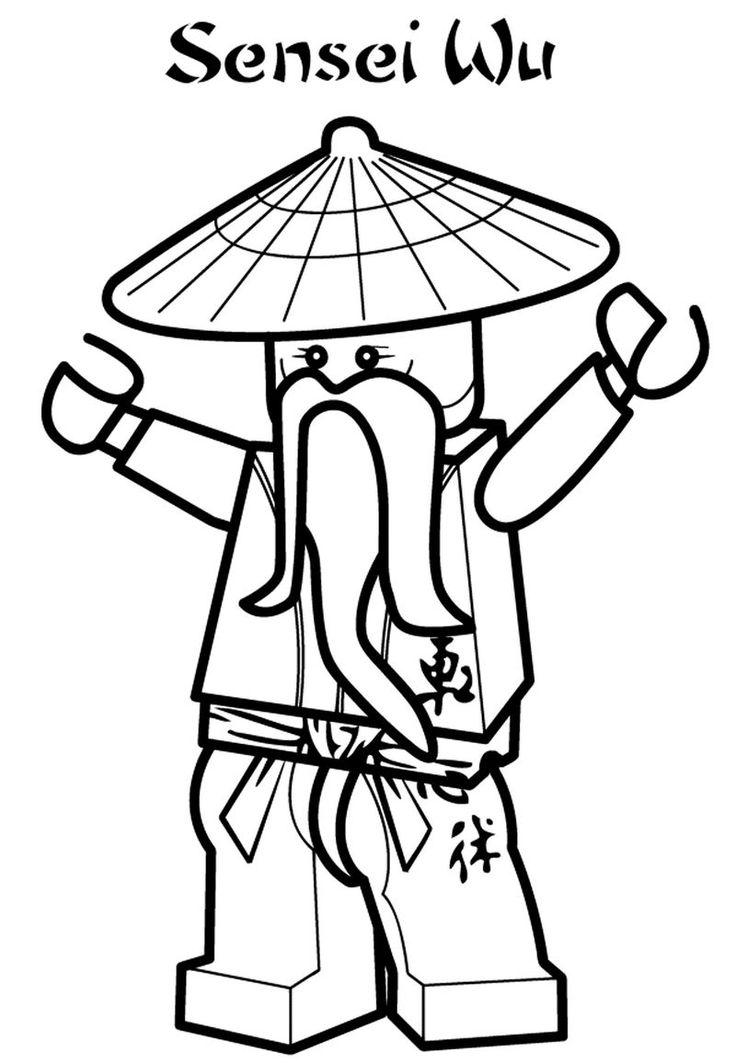 sensei wu ninjago coloring book  ninjago coloring pages