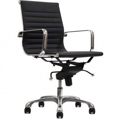 Malibu Mid Back Black Vinyl Office Chair