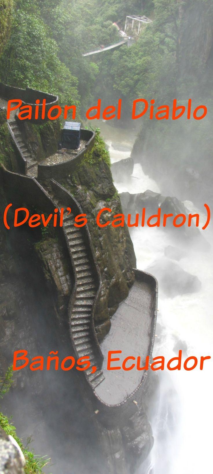 Pailon del Diablo Waterfall (Devil's Cauldron) – Baños, Ecuador