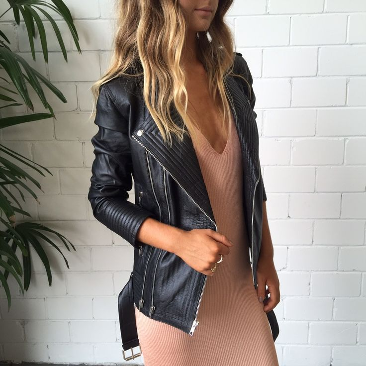 Splice X Splice Boutique Finn Biker Leather Jacket - Black