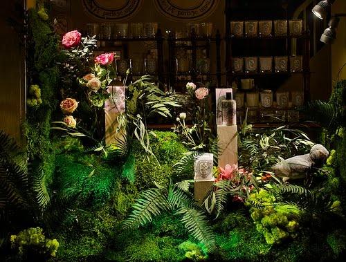Vegetal decor for Dyptique in Paris.