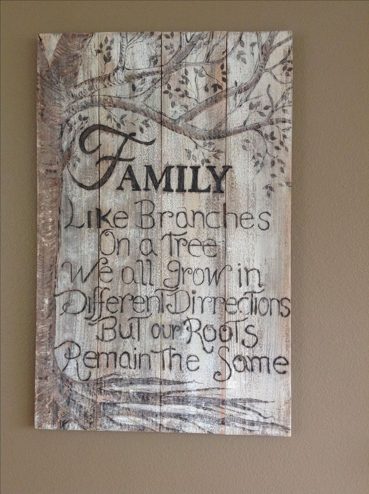 Family sings , How about this version of family Roots , distressed barn wood  burn lettering and a bit of carving on the tree . Let me Kwon what you think .