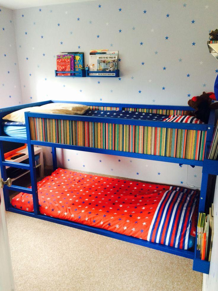 Ikea Kura Bed Turned Into Bunk Bed Using Extra Slats On