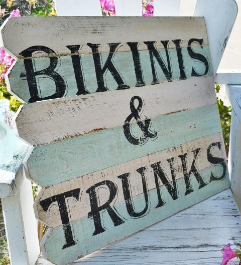 """Beach signs by Rita Reade coming to """"The Vintage Marketplace"""" show June 1st & 2nd 2012"""
