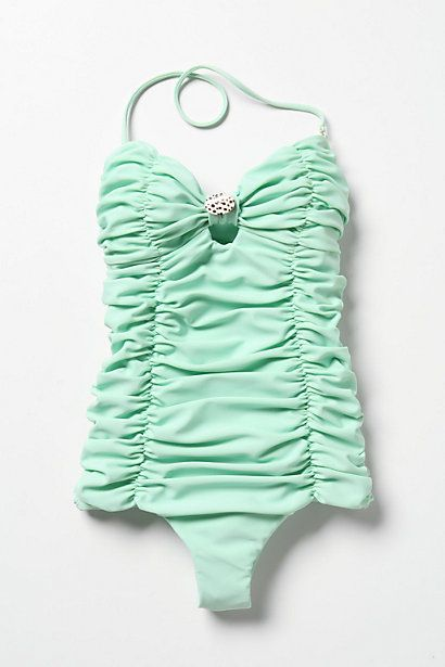 seagreen swimsuit with seashell by tori praver.: Mintgreen, Bathing Suits, Mint Green, Colors, Swimsuits, One Pieces, Bath Suits, Swim Suits, Vintage Style