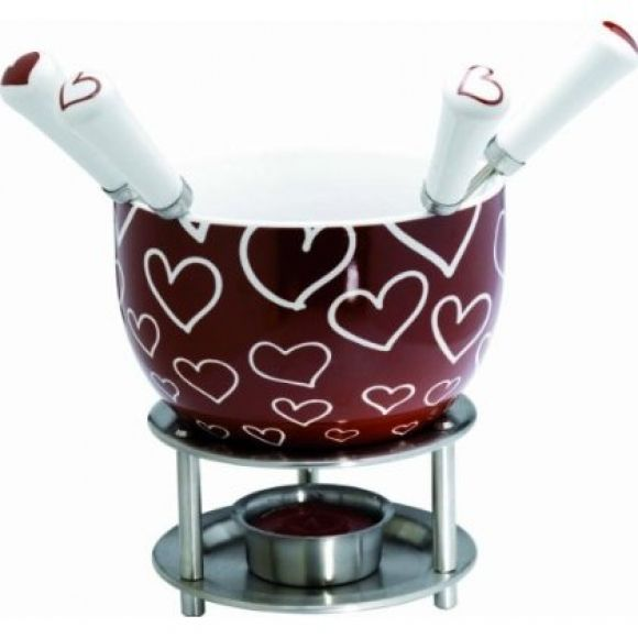 Chocolate fondue in hearts. Shop now at www.hardtofind.com.au