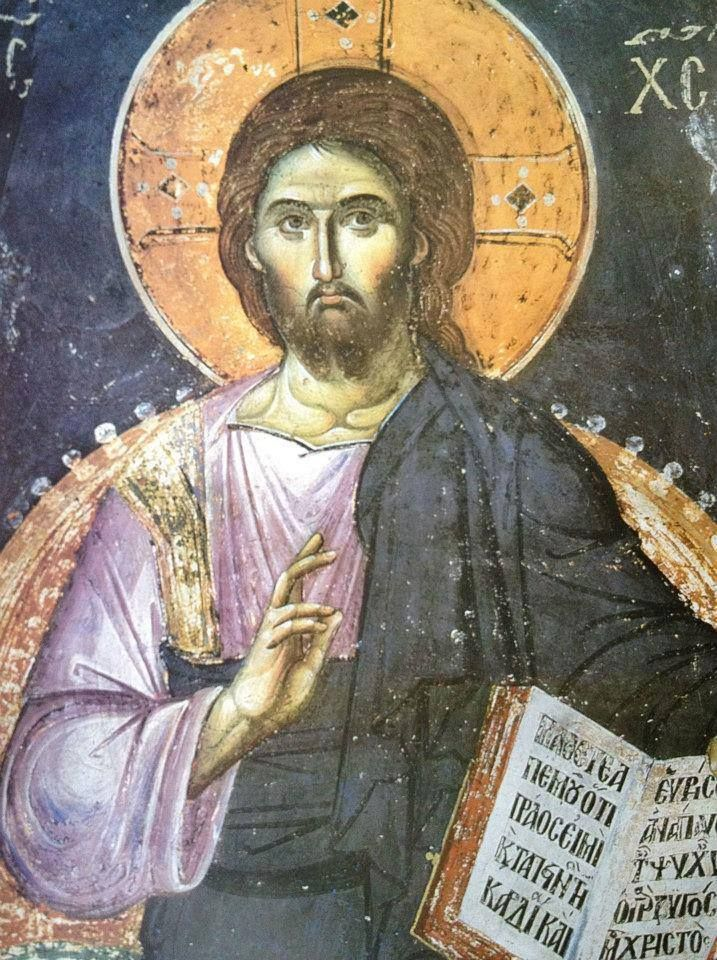 Jesus Christ - painted by Manuil Panselinos, Protaton, Mt. Athos, (13th– 14th century