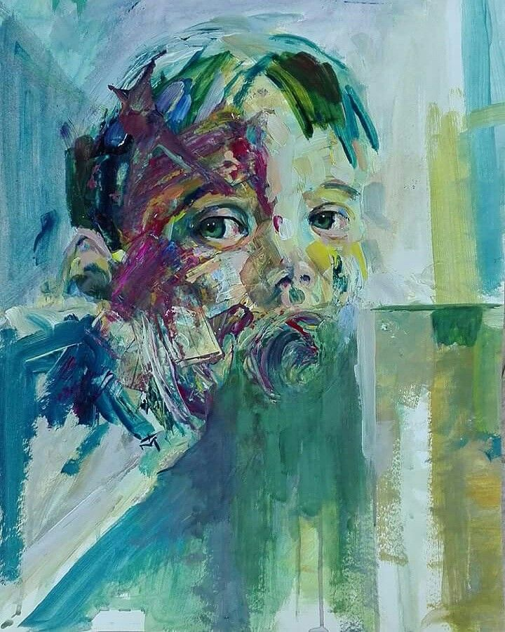 Tasos bousdoukos, Acrylic portrait