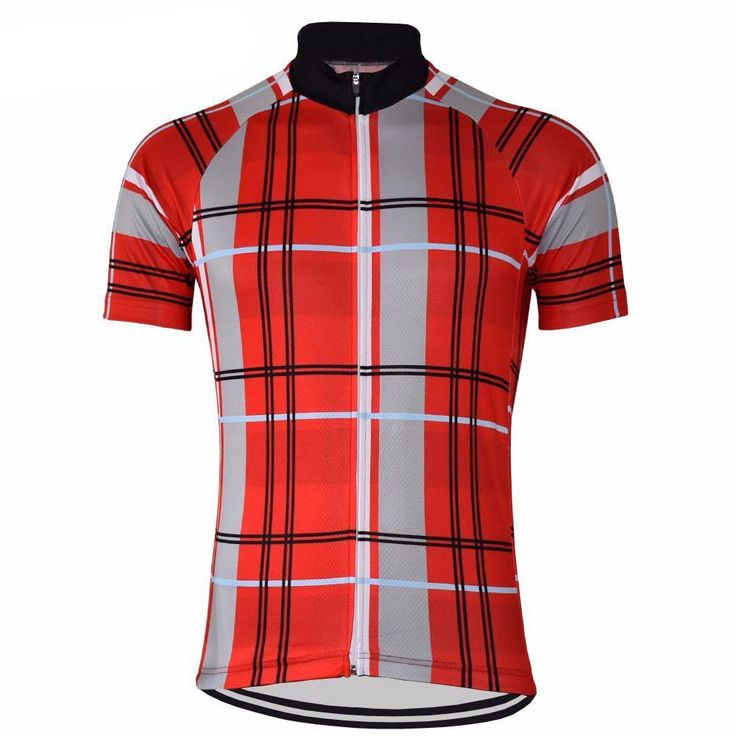 Men's Plaid Tartan Cycling Jersey