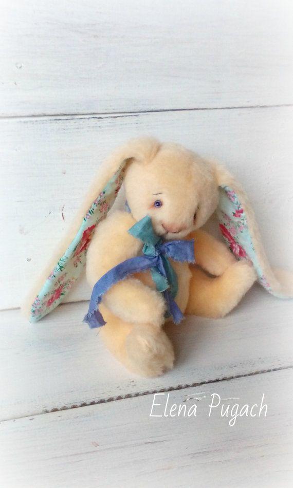 Free shipping worldwide Little teddy rabbit Bunny by SovushkaDolls