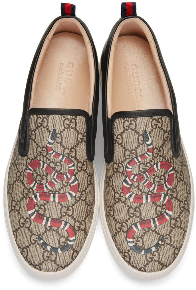 Gucci - Black Snake Dublin Slip-On Sneakers