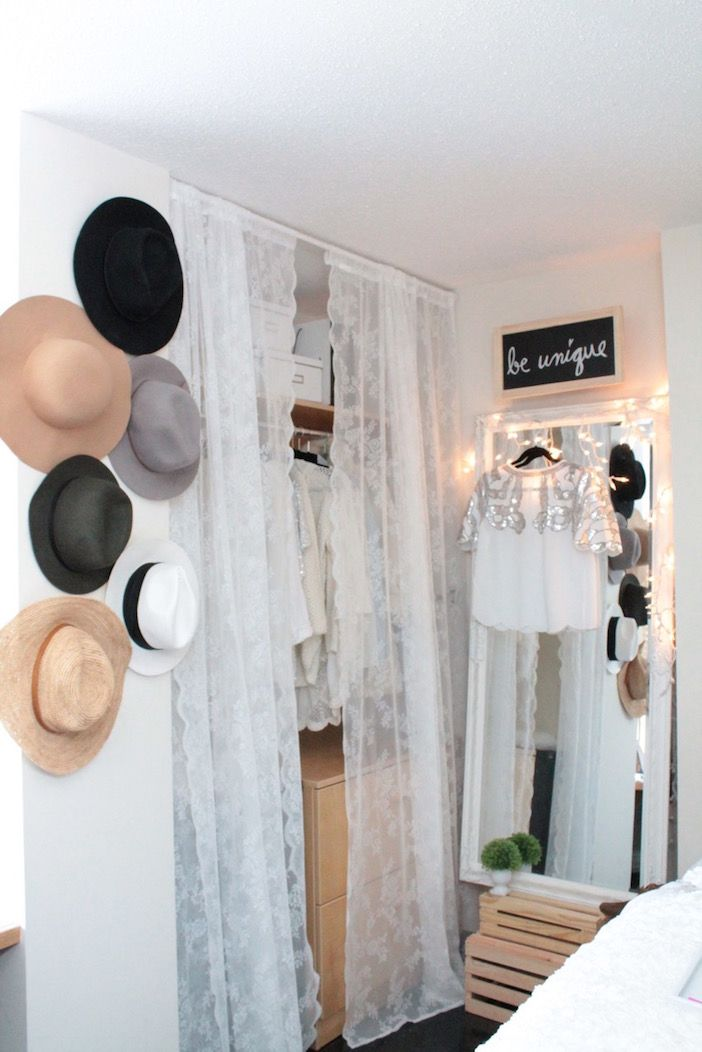 1000 Ideas About Closet Door Curtains On Pinterest