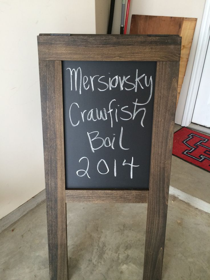 Crawfish boil welcome sign