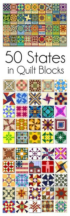 50 States in Quilt blocks...so awesome...this would be fun to do modern versions of each.