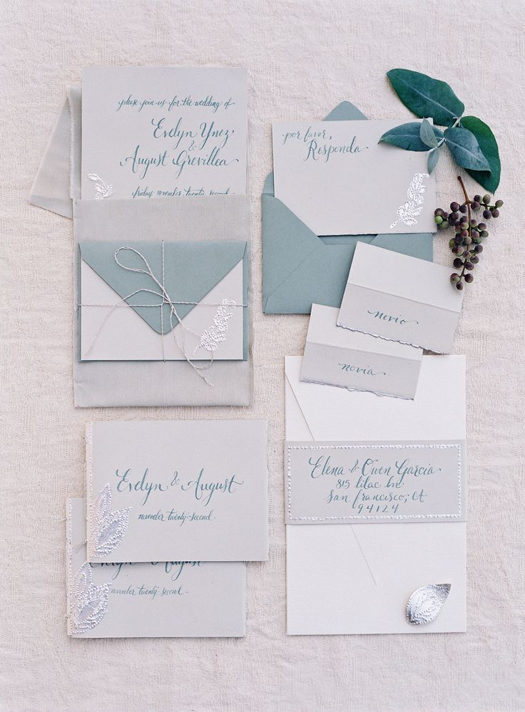 Beautiful wedding stationery by Brenna Berger of Paper & Ink. Photography: Jose Villa Photography - josevillaphoto.com