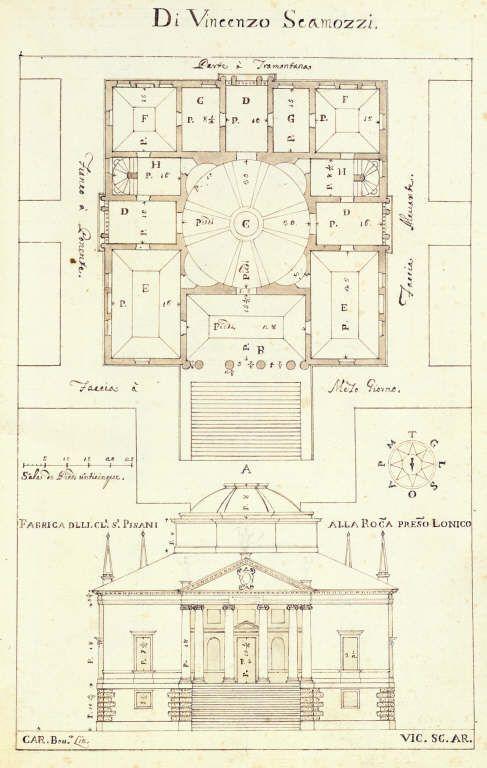 Villa Rocca Pisani / Artist: Carlo Bovara, 1615 / Architect: Vincenzo Scamozzi / Copyright: RIBA Library Drawings Collection