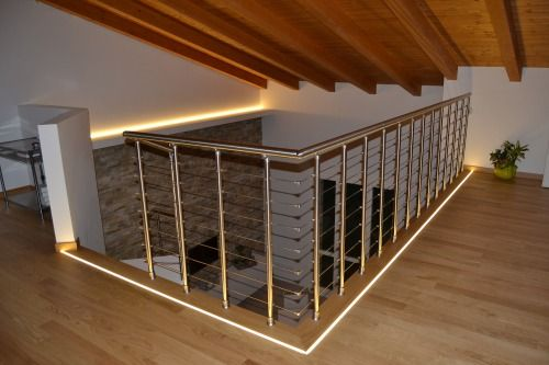 #Fontanot #staircase Edil Gold localtà Monterenzio (Bo) Model: Scenik  Wood: frassino sbiancato Railing: Genius 060 inox satinato