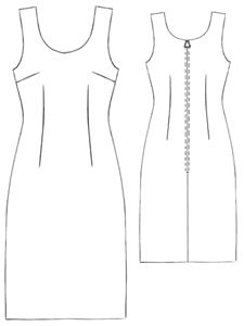 simple summer dress, cotton or silk.     #5202 Small color dress. From Modern Sewing Patterns