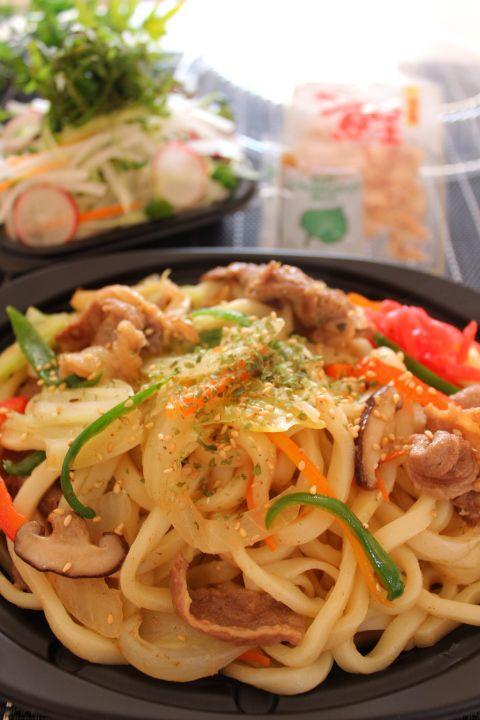 Japanese Yaki Udon Noodles 焼きうどん