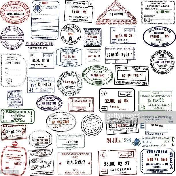Giant Blank Passport Stamp Collection Great If You Want To Add Your Passport Stamps Travel Stamp Stamp
