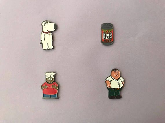 Cartoon Family Guy, South Park and The Simpsons enamel pin    family guy, peter griffin, brian griffin, the simpsons, bart simpson, lisa simpson, cheff south park, duff beer, comedy central, pin, enamel pin, cute pin, cute design