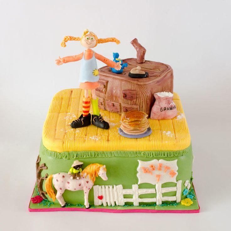 Pippi makes pancakes cake