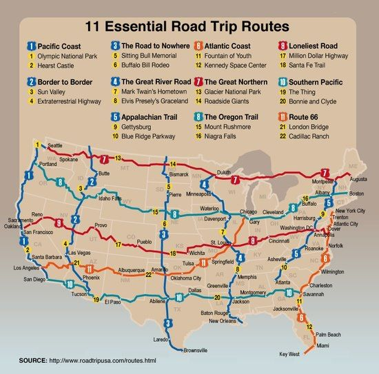 11 Essential Road Trip Routes: Need inspiration for your summer road trips? These routes connect historical sites and many follow old migration trails.