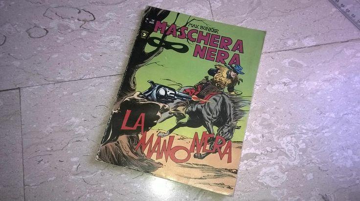 """Fumetto/comics MASCHERA NERA n°16 Giugno 1978 """"La mano nera"""" Ed. Corno L.400"""