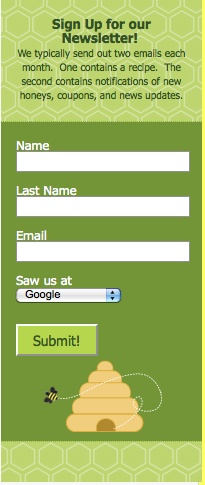 Do you track the source of your subscribers? The Bee Folks track this in a drop-down box on their web form. www.beefolks.com