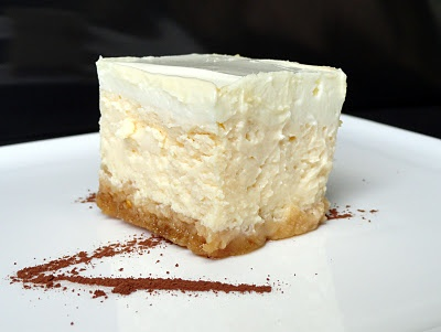 Cheese cake with sour cream   - yummy and low cal too