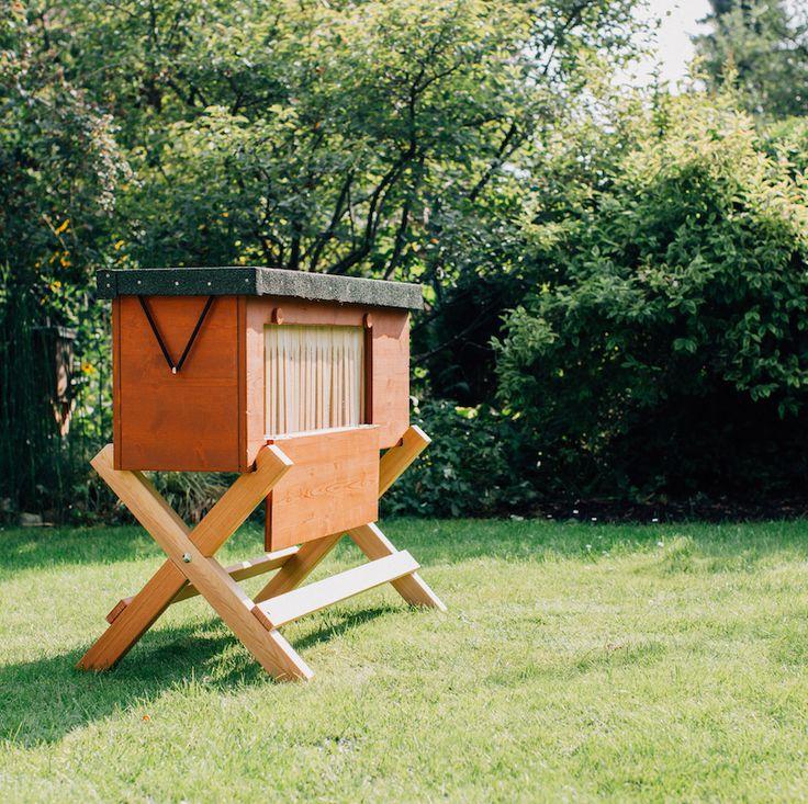 Cool Bienenbox im Garten
